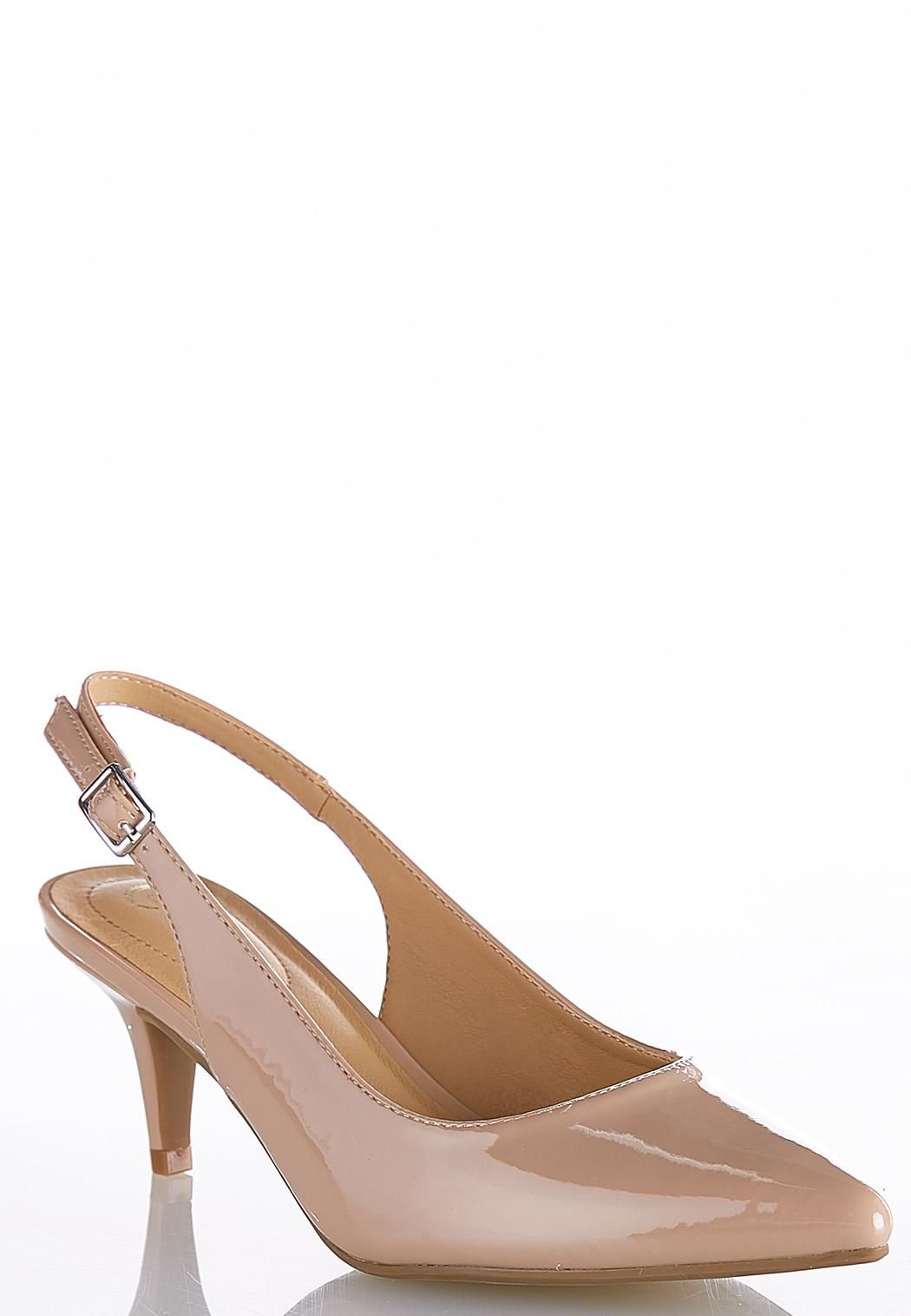 7d031396fe65 Wide Width Patent Slingback Pumps Heels Cato Fashions in 2019
