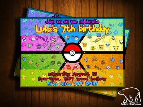 Pokemon Birthday Invitations Walmart