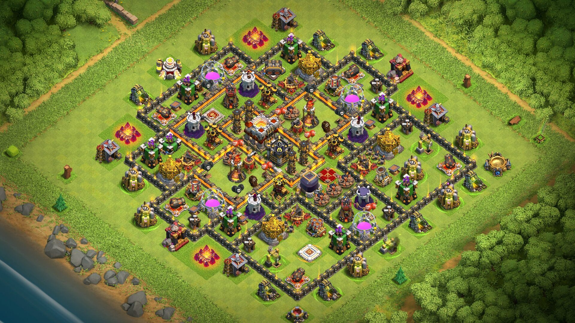 Best Th11 War Base Without Eagle Artillery 2018 7