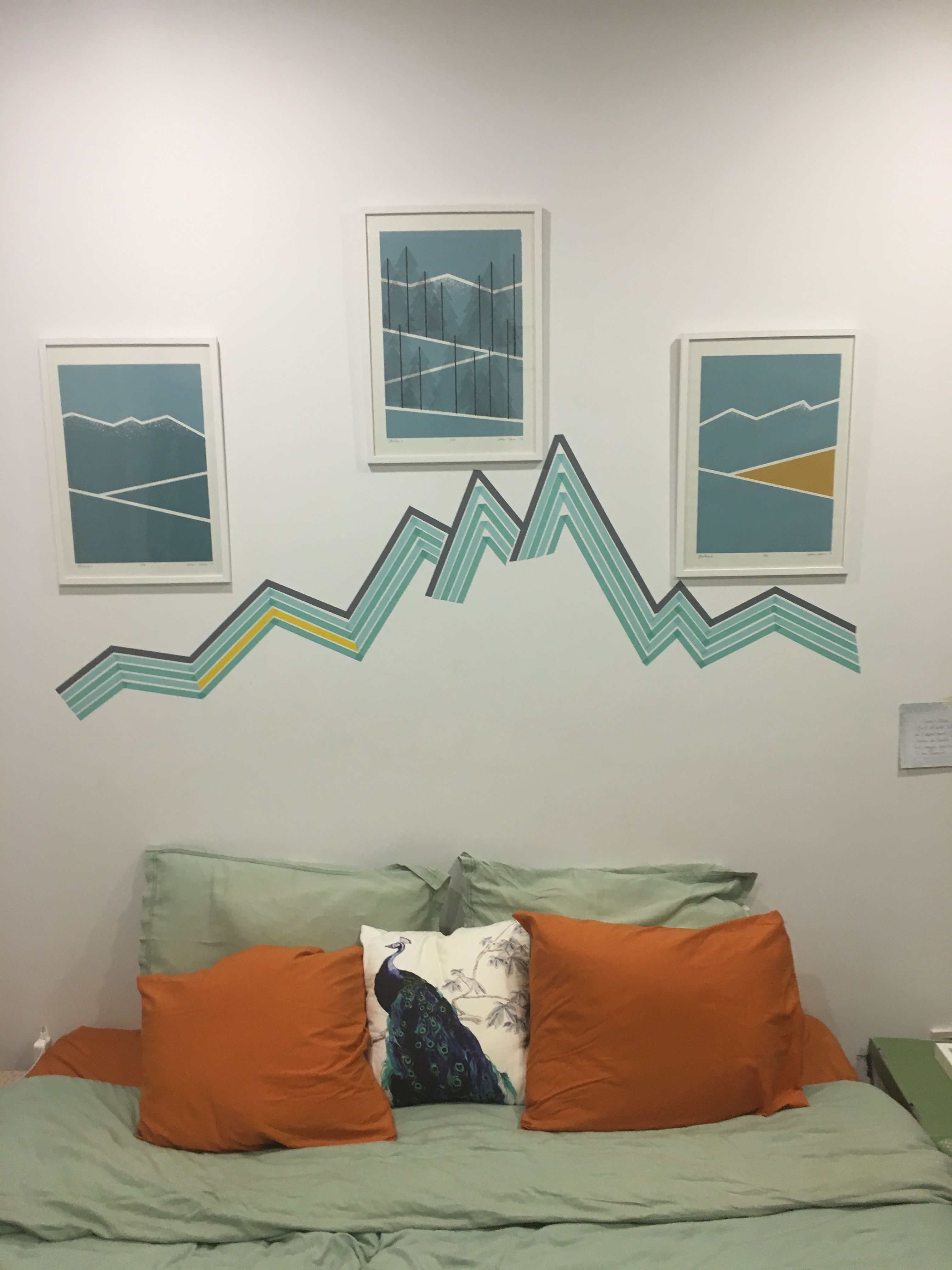 Mountain Tape Bed Graphic Home Decor Decals Home Decor Decor