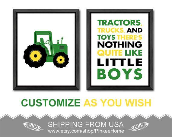 John Deere Baby Gifts Uk : Tractors trucks and toys nursery quote john deere baby