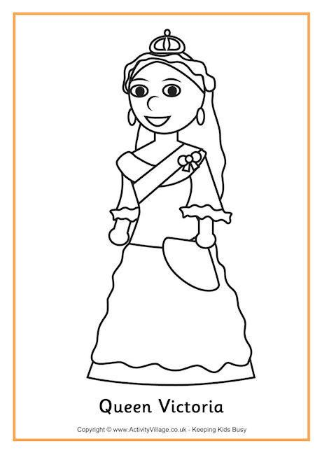Coloring Pages Queen Victoria : Queen victoria colouring page history coloring sheets
