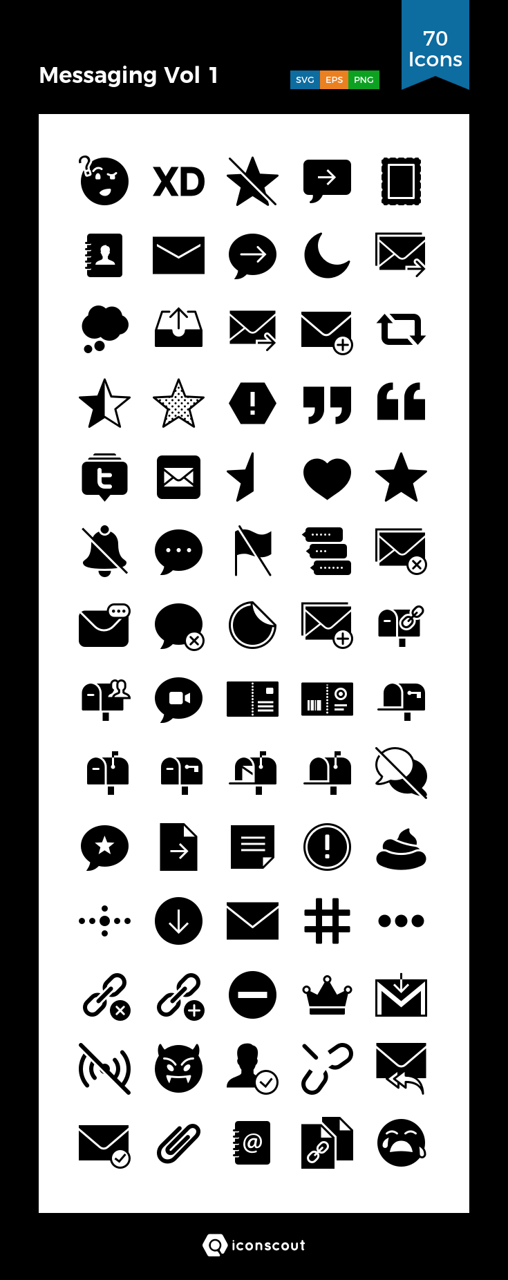 Download Messaging Vol 1 Icon pack Available in SVG, PNG