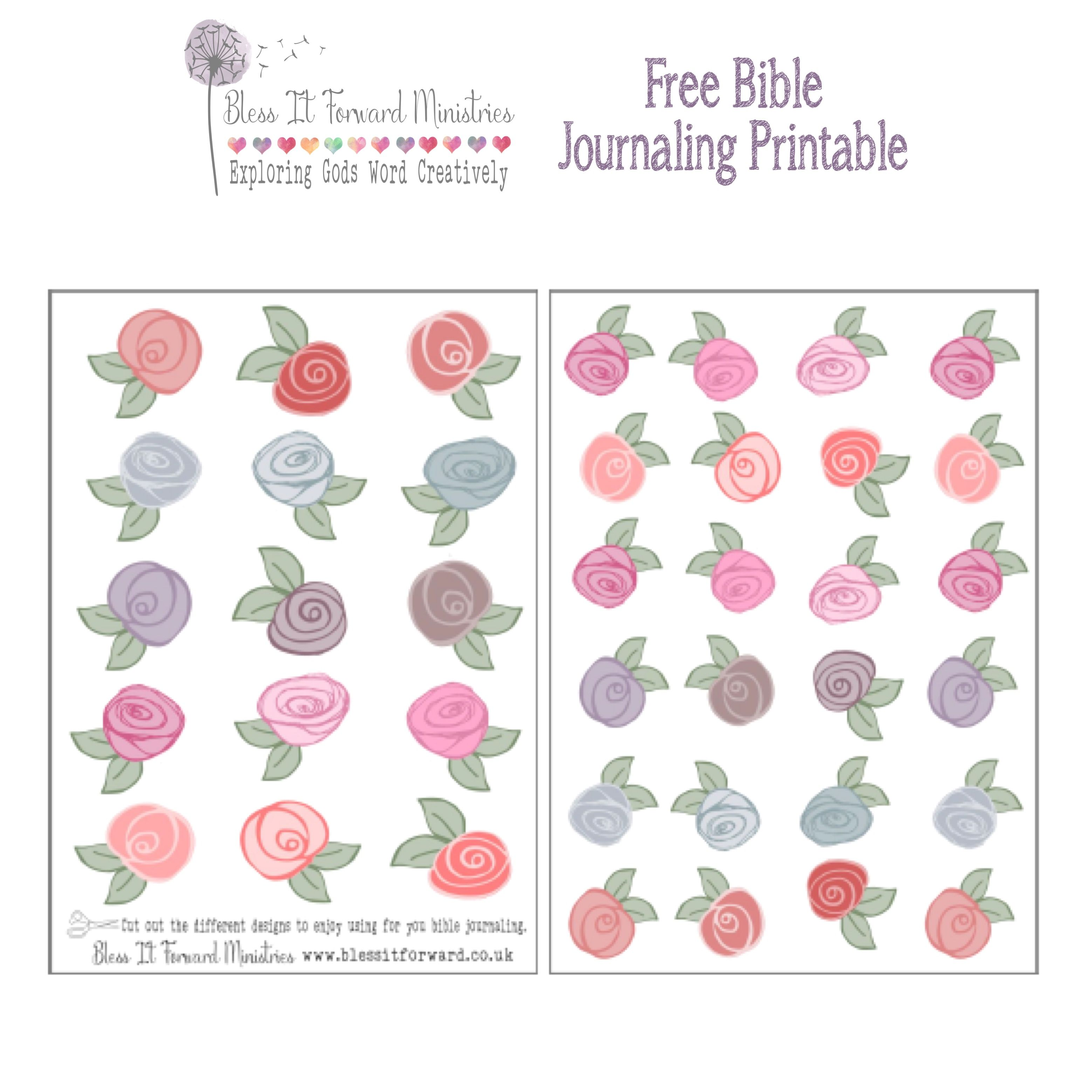 Some Beautiful Flowers To Use In Your Bible Journaling Now