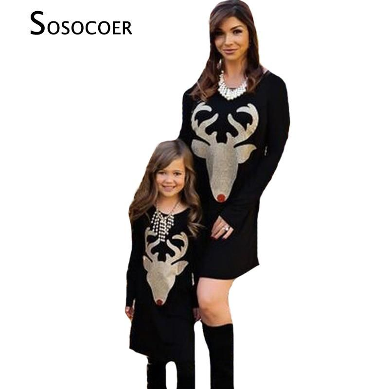 1576f2261cd9b Christmas Fashion Mom and Daughter Dress | Baby Viral | Family ...