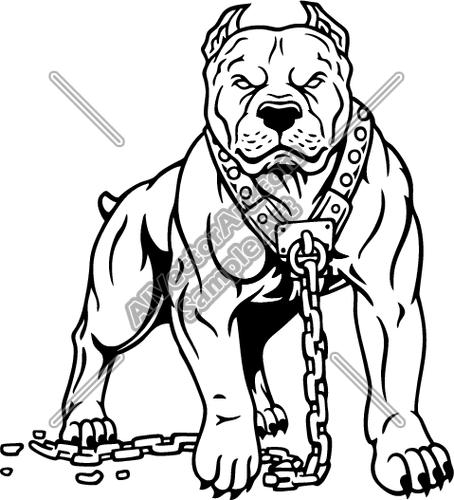 Pitbull Dog Clipart