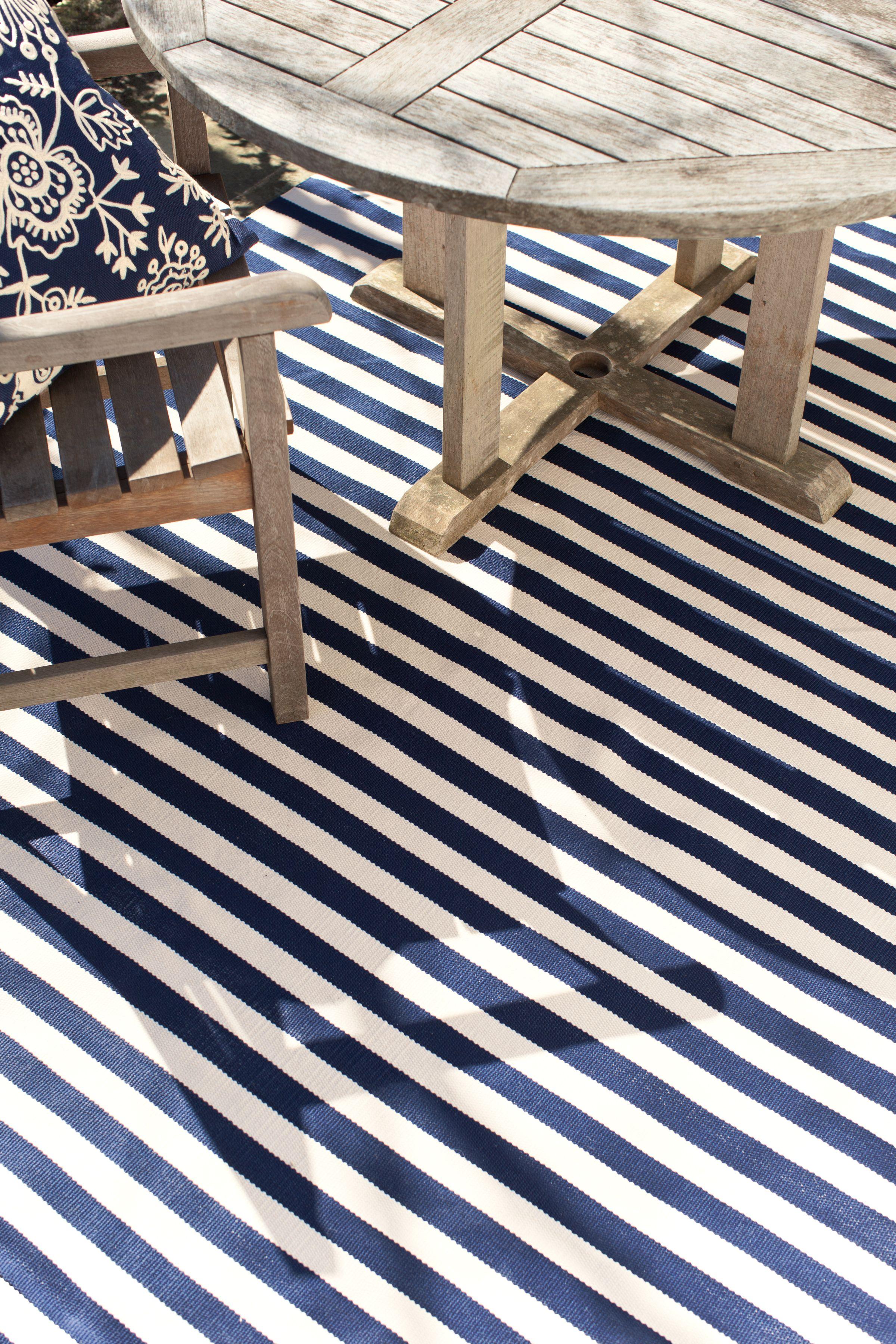 Trimaran Navy Indoor Outdoor Rug By