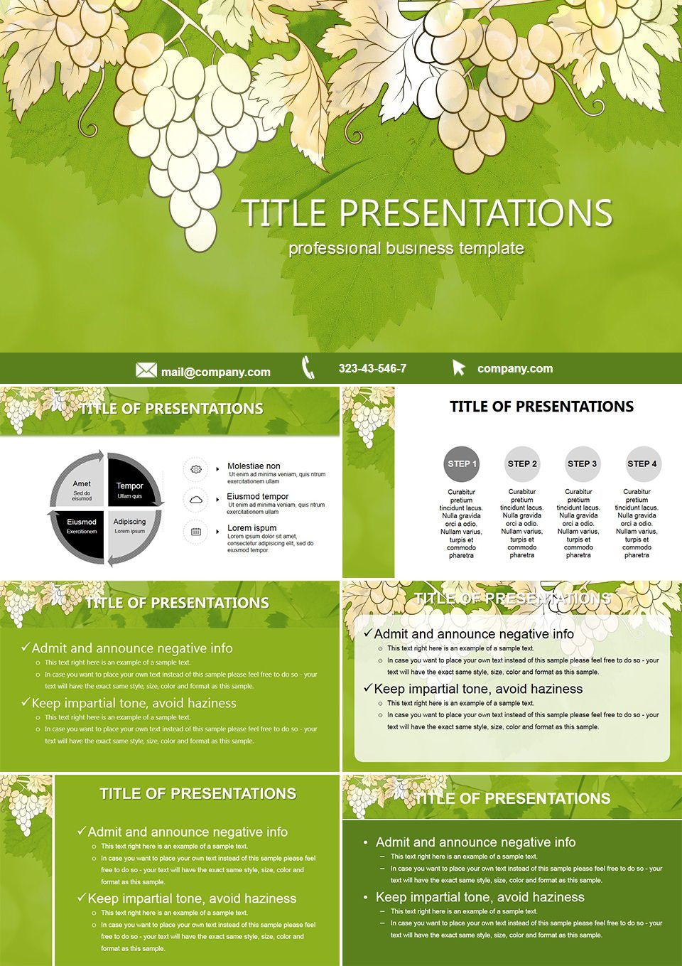 Grapes Biology Free Powerpoint Templates Free Powerpoint Templates
