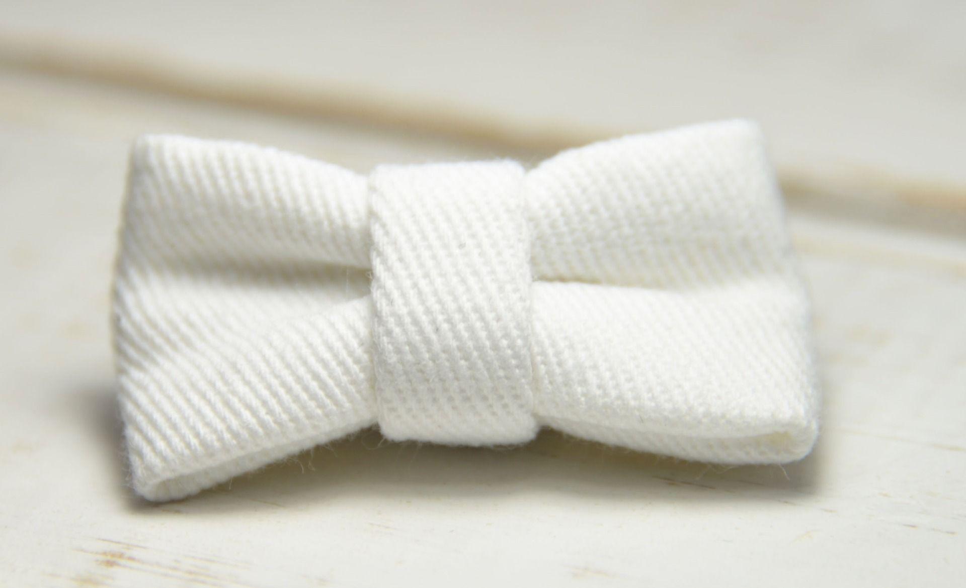 Barrette bébé clic-clac petit nœud / blanche : Accessoires coiffure par noeud-vous-deplaise