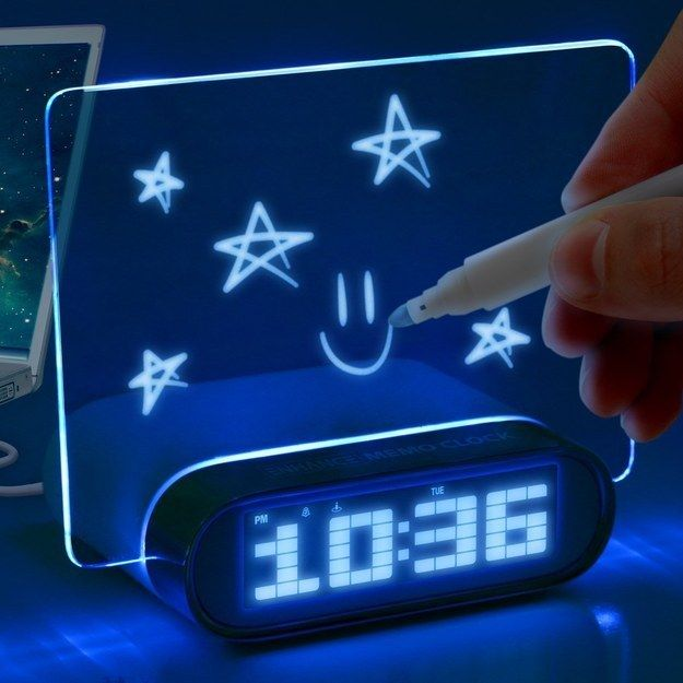 Wake up to a glowing memo. | 23 Gadgets That Will Actually Help You…