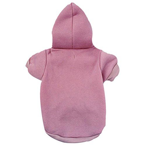 Creazy® Best Selling New Pet Puppy Dog Cat Coat Clothes Hoodie Sweater Costumes (Pink, M) *** FIND OUT ADDITIONAL DETAILS @: http://www.best-outdoorgear.com/creazy-best-selling-new-pet-puppy-dog-cat-coat-clothes-hoodie-sweater-costumes-pink-m/
