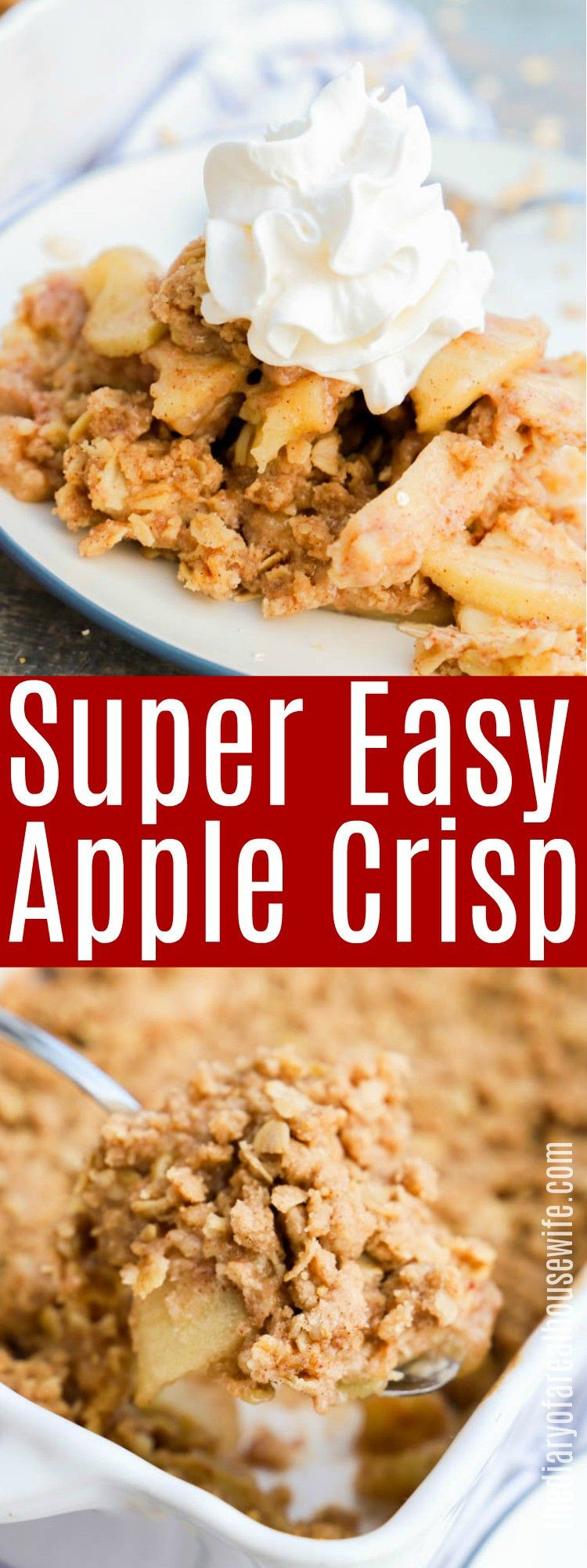 Easy apple crisp the diary of a real housewife apple