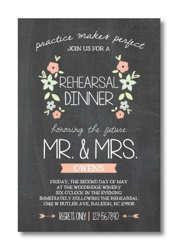 Rehearsal Dinner Invitation Template 5x7 Customized Wedding Rehearsal Dinner Invitation Watercolor Rehearsal Dinner Invitation