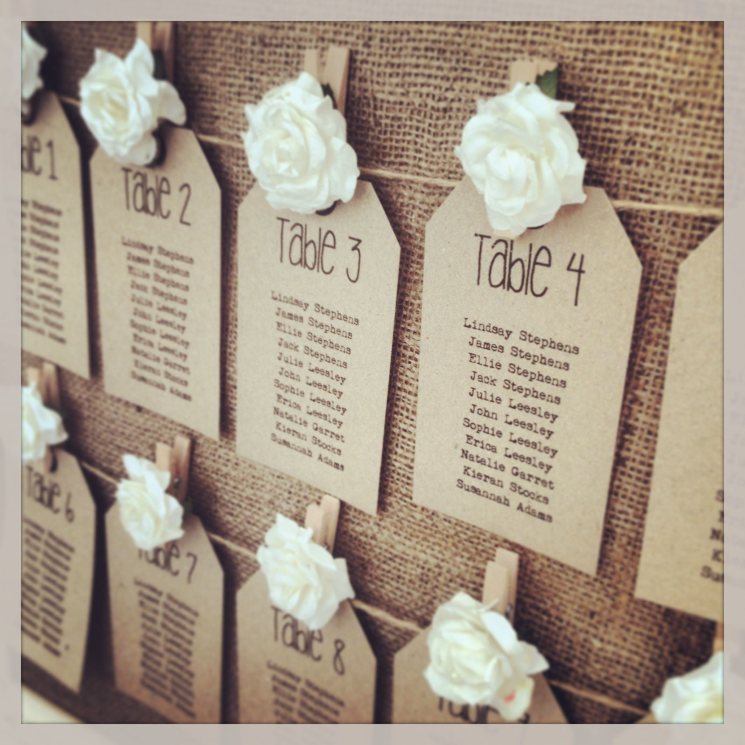 Rustic Wedding Seating Chart Ideas: Rustic Table Plan Tags From Www.thevowweddingboutique.com
