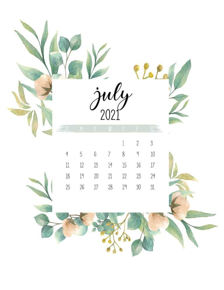 Free 2021 Botanical Calendar World Of Printables Calendar Printables Calendar Design Monthly Calendar Printable