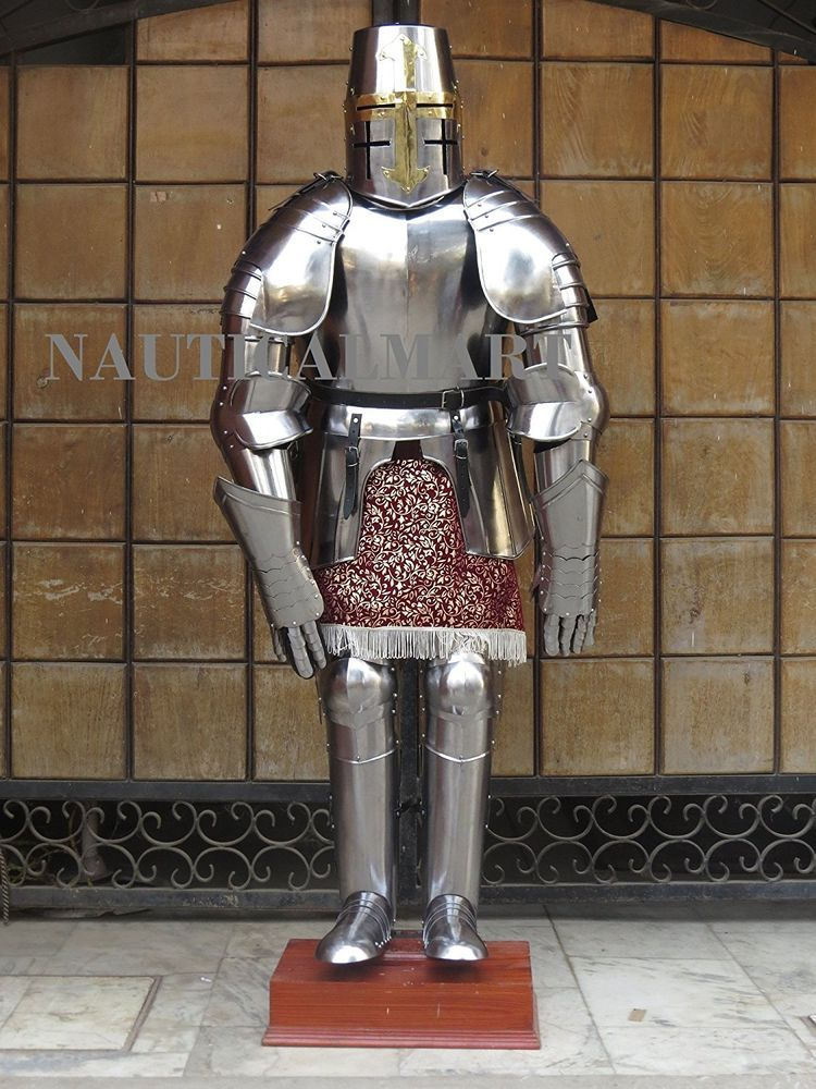 1e541913badf0 Plate Armour Medieval Crusader Style Armour Adult Knight Suit Of Armor   LarpArmory