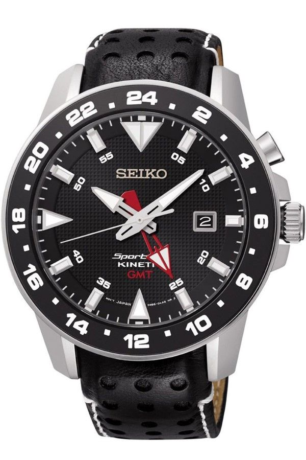 men watches seiko sun015p2 men s kinetic sportura gmt sapphire men watches seiko sun015p2 men s kinetic sportura gmt sapphire crystal 100m wr
