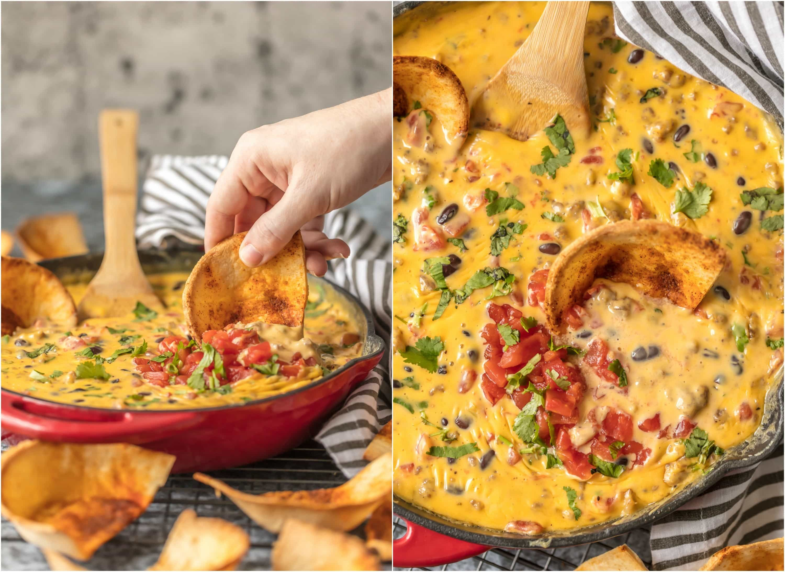 loaded cowboy queso is the ultimate super bowl dip this easy
