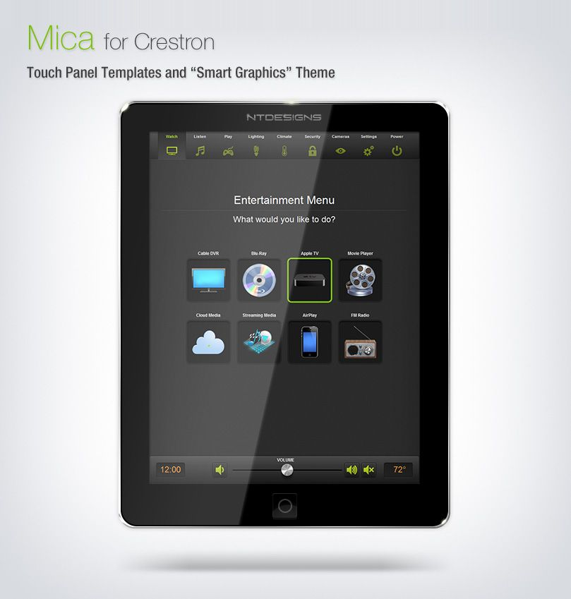 NTDesigns\u0027 Mica product line for Crestron Smart Graphics devices and