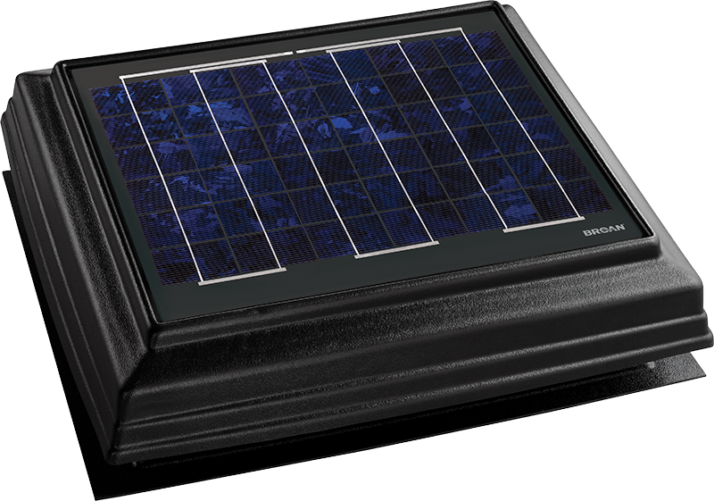 Solar powered attic vent fans are perfect for existing - Solar powered bathroom exhaust fan ...