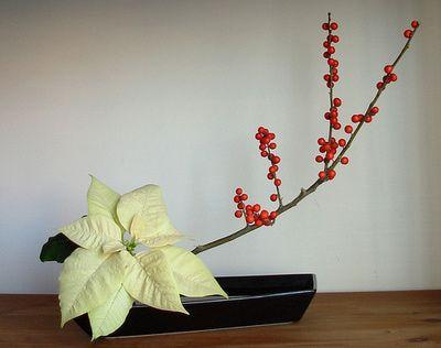 Ikebana Arrangements for Christmas
