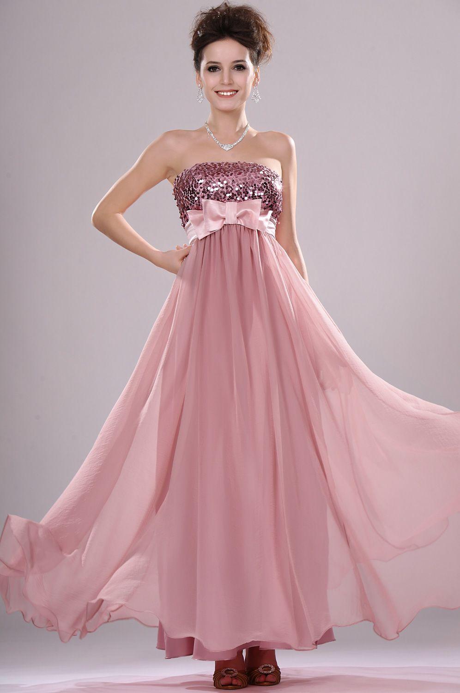 af994786b56 Robe de soirée longue rose buste sequin