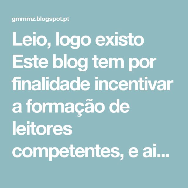 """Leio, logo existo Este blog tem por finalidade incentivar a formação de leitores competentes, e ainda, fomentar subsídios e informações aos colegas, alunos/as, familiares e visitantes em geral. Agradeço sua visita! Geisa """"O espelho e os sonhos são coisas semelhantes, é como a imagem do homem diante de si próprio."""" (José Saramago) quarta-feira, 27 de abril de 2011 LISTA DE VERBOS REGULARES - INGLÊS.   VERBOS REGULARES - INGLÊS. VERBO / PASSADO / PARTICÍPIO PASSADO / TRADUÇÃO  Absorb…"""