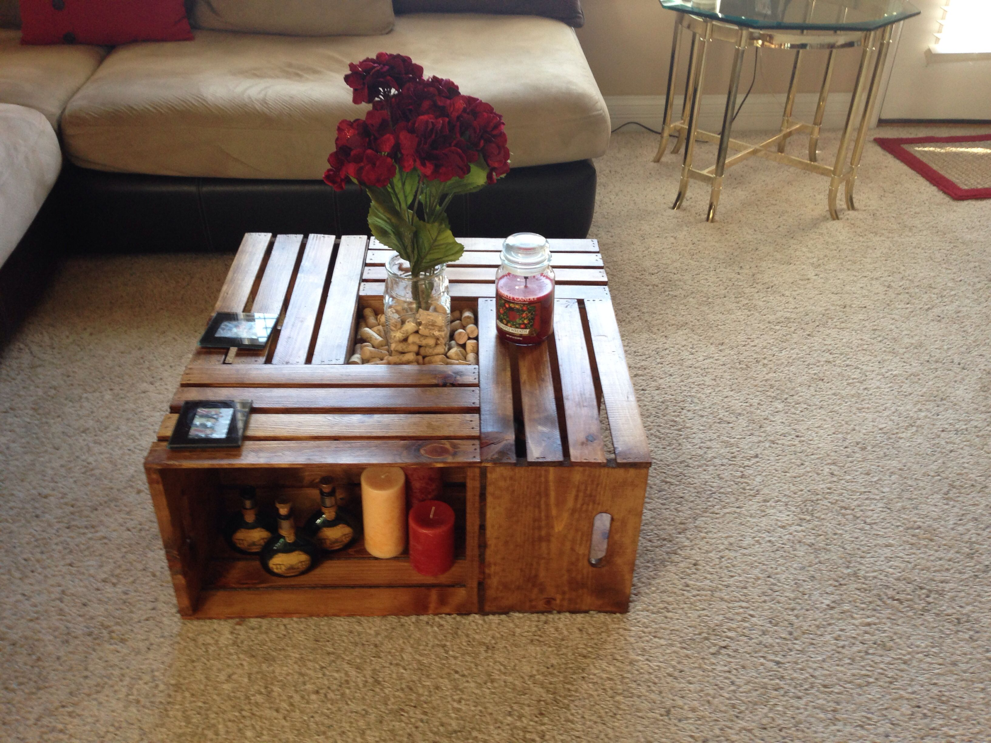 Crate table by Michael Crates came from michaels craft store If