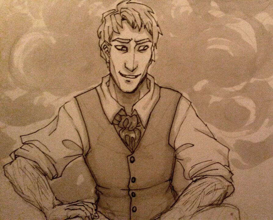 Doodling a well dressed Kelsier while waiting for... - Penumbra