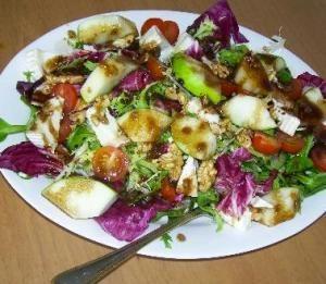 Cómo preparar ensalada de queso y manzana #ensalada #saludable #receta #healthy