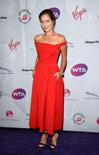 Ana Ivanovic Photos Photos Wta Pre Wimbledon Party Wimbledon Party Ana Ivanovic Strapless Dress Formal