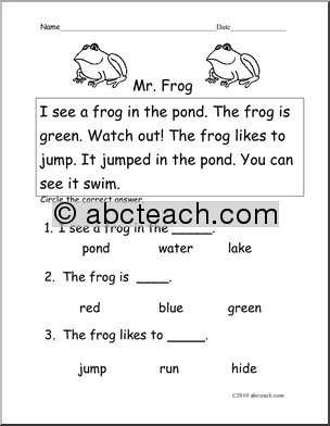 Pin by Heather Ribellino on crafts | Reading worksheets ...