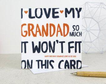 Funny Grandad Birthday Card Personalised Card Card For Grandad Birthday Card Funny Grandad Birthday Cards Funny Birthday Cards Birthday Greetings Funny