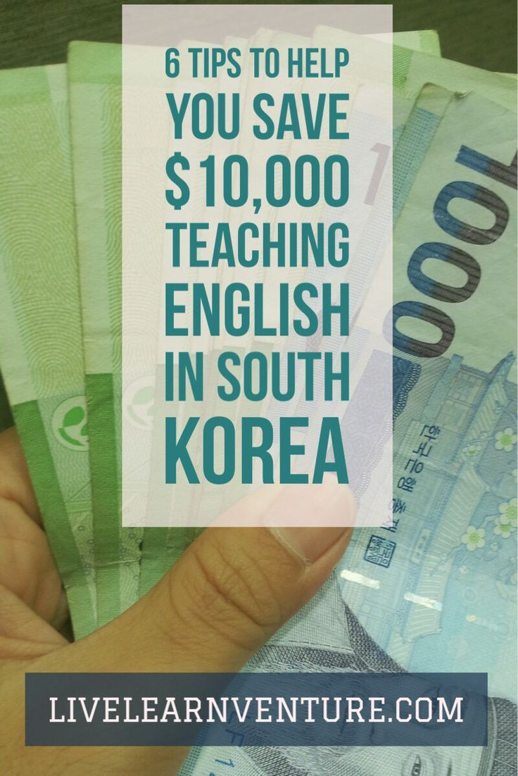 6 Tips to Help You Save $10,000 Teaching English in South Korea #travel #Asia #ESL #eslteacher #Korea #travelblog #savemoney