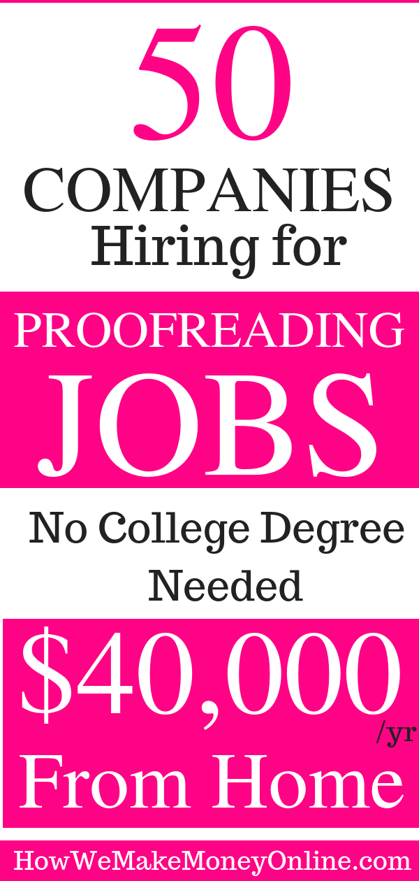 50 Proofreading Editing Jobs Online Proofreading Jobs From Home