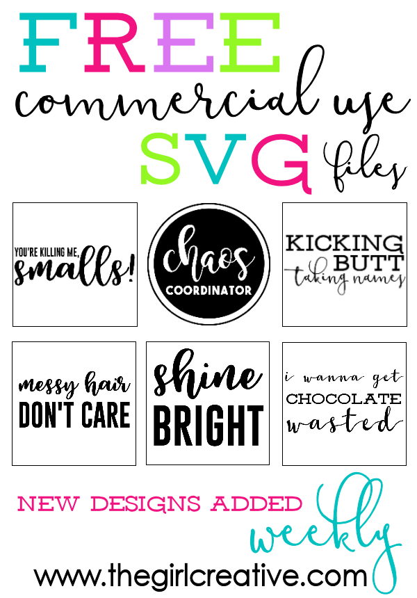 FREE Commercial Use SVG Files Great for Tshirts