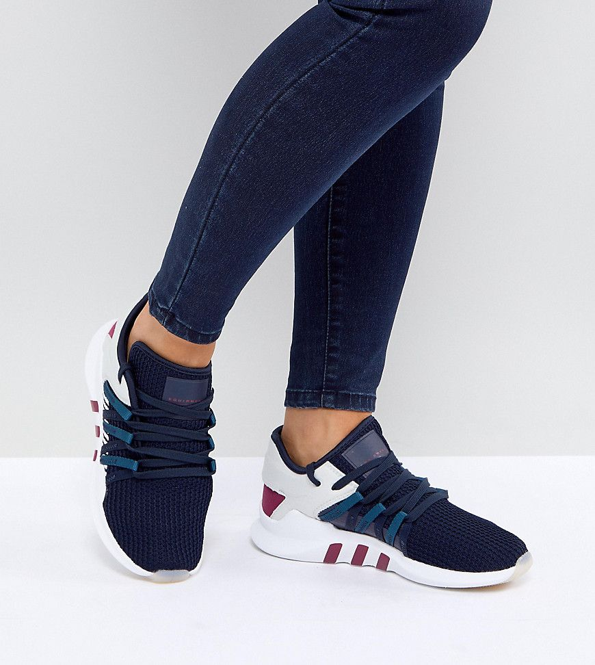 the latest a3839 8a20c adidas Originals EQT Racing Adv Sneakers In Navy - Navy