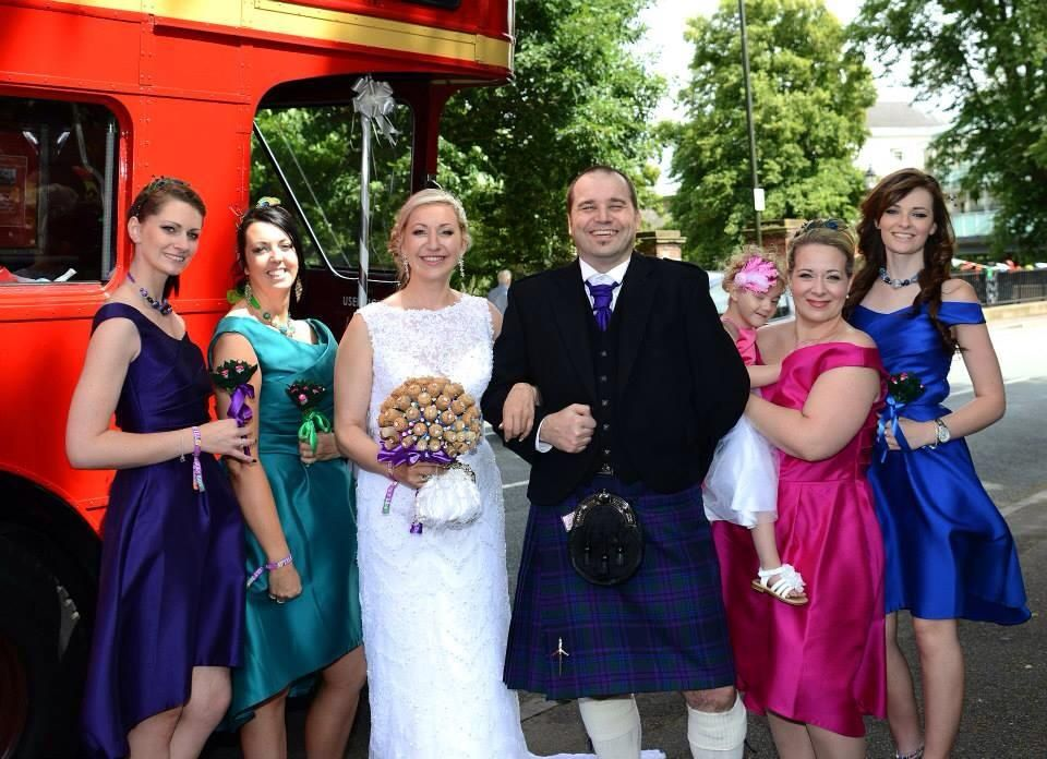Bride and groom and all the beautiful bridal party!