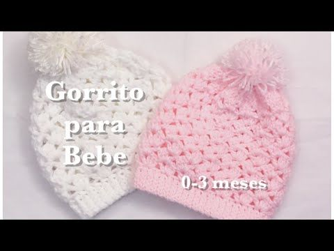 Como tejer un ajuar  Gorrito para bebe a crochet - YouTube ... ea70fe05dba