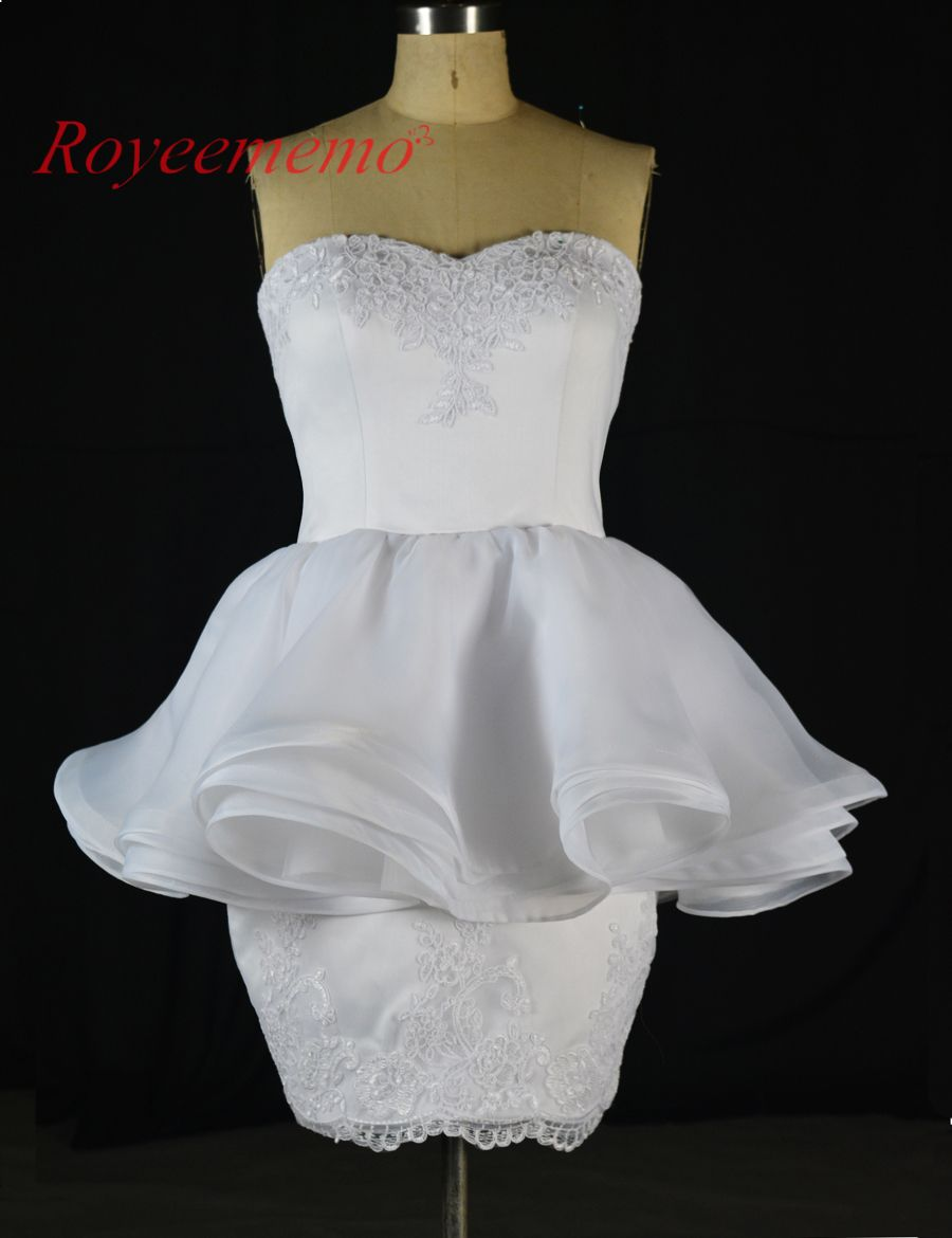 Click to buy ucuc new design lace short wedding dresses hot sale