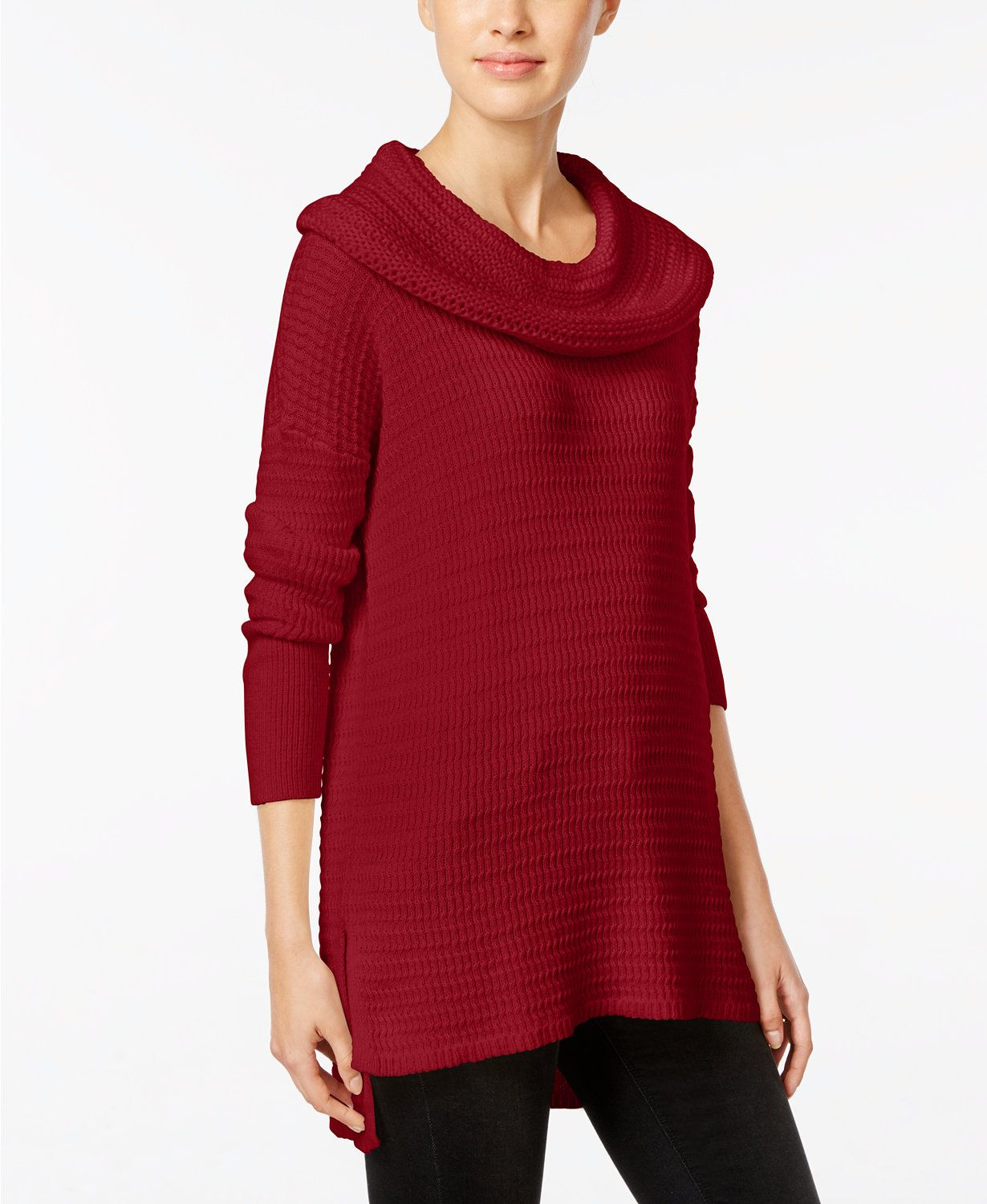 Style & Co Petite Cowl-Neck Tunic Sweater, Only at Macy's | macys ...