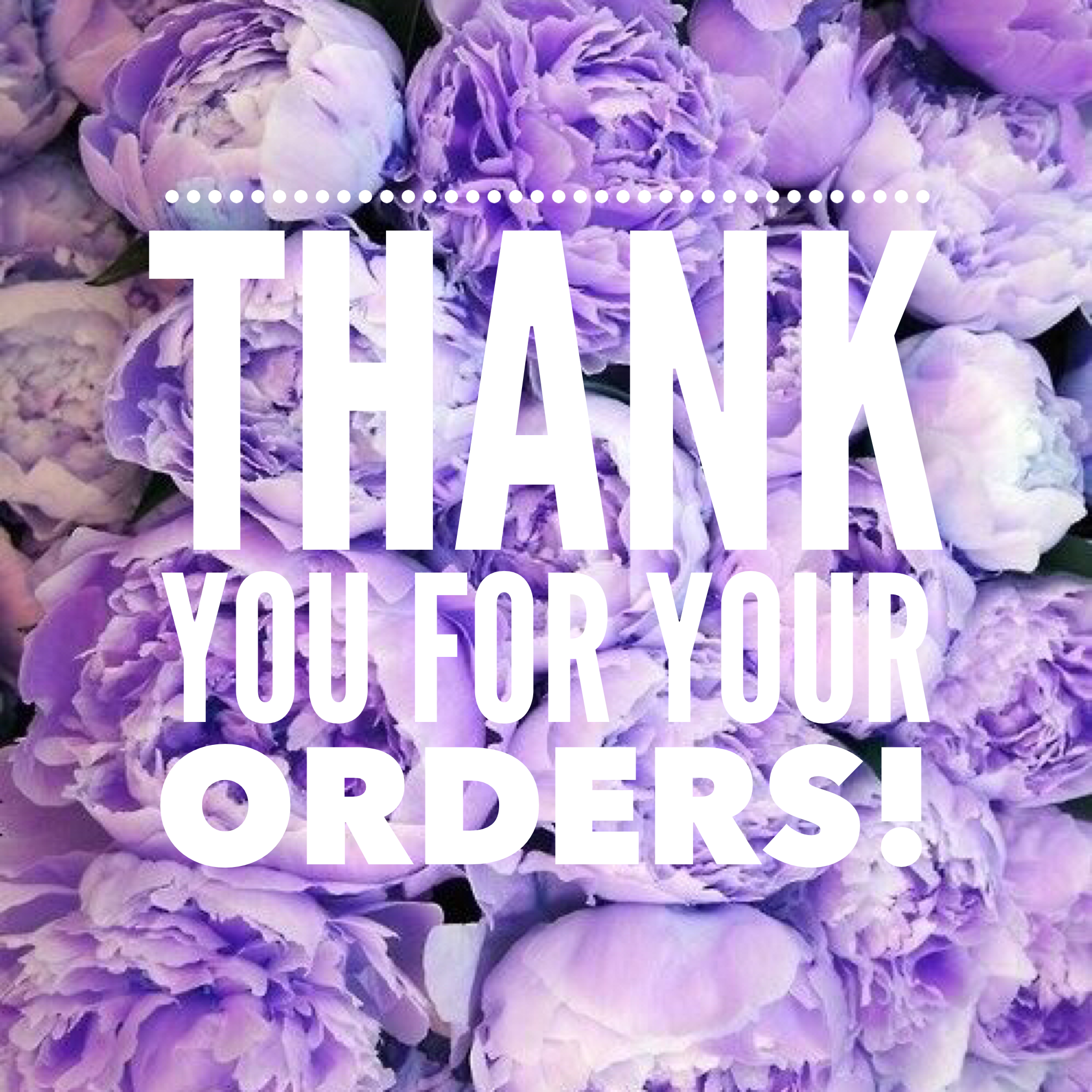 Thank You For Your Order And For Supporting My Business Body