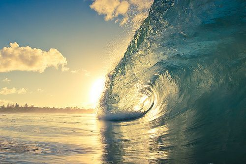Sunset With Sea Wave Tap To See More Breathtaking Beach: Photography Fun Surf Water Beach Sand Ocean Wave Sunset