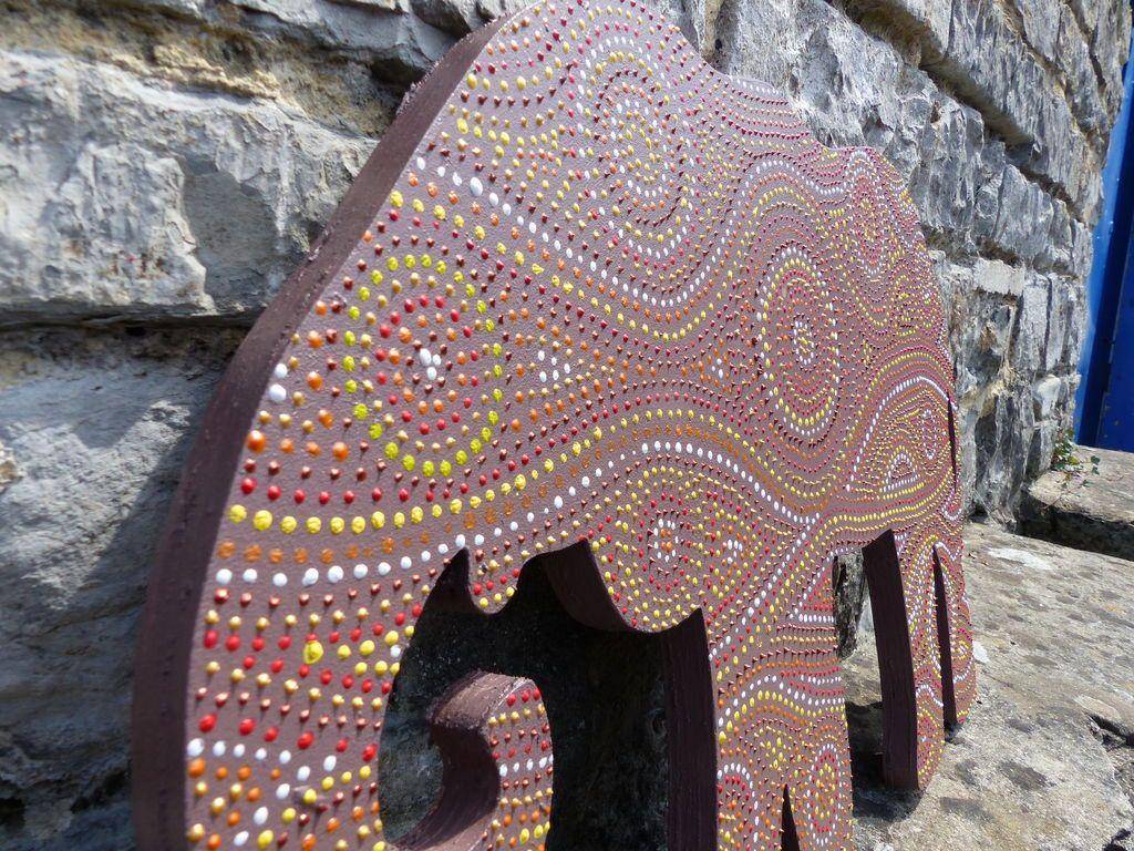 MDF African Painted Elephant Decor   Elephant painting ... - photo#6