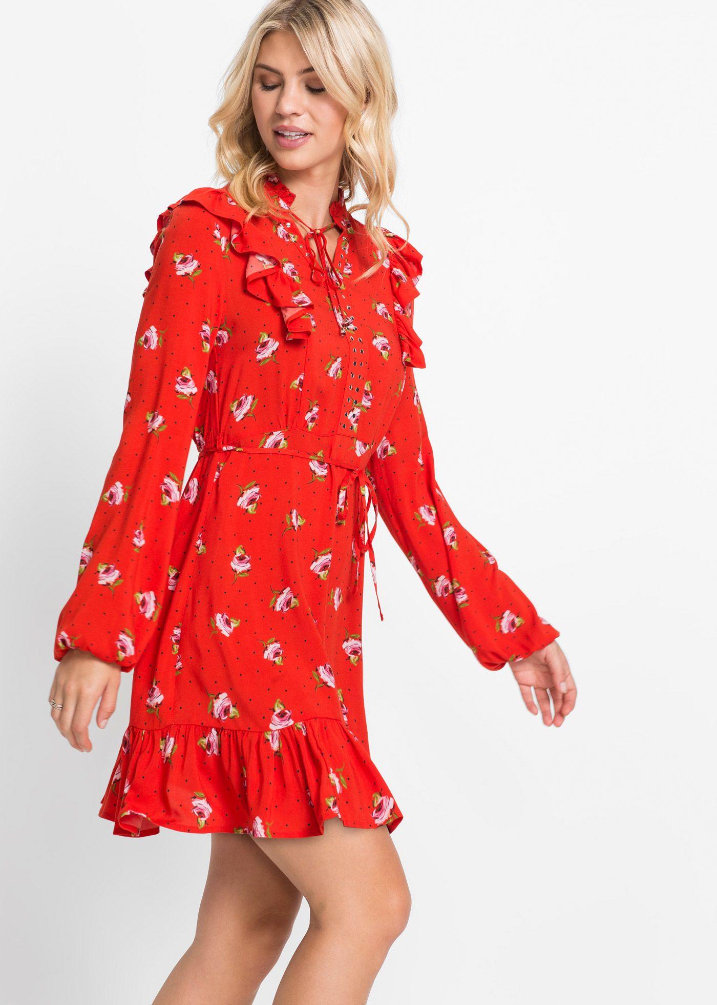 trendy und feminin zugleich ist dieses wunderschöne kleid