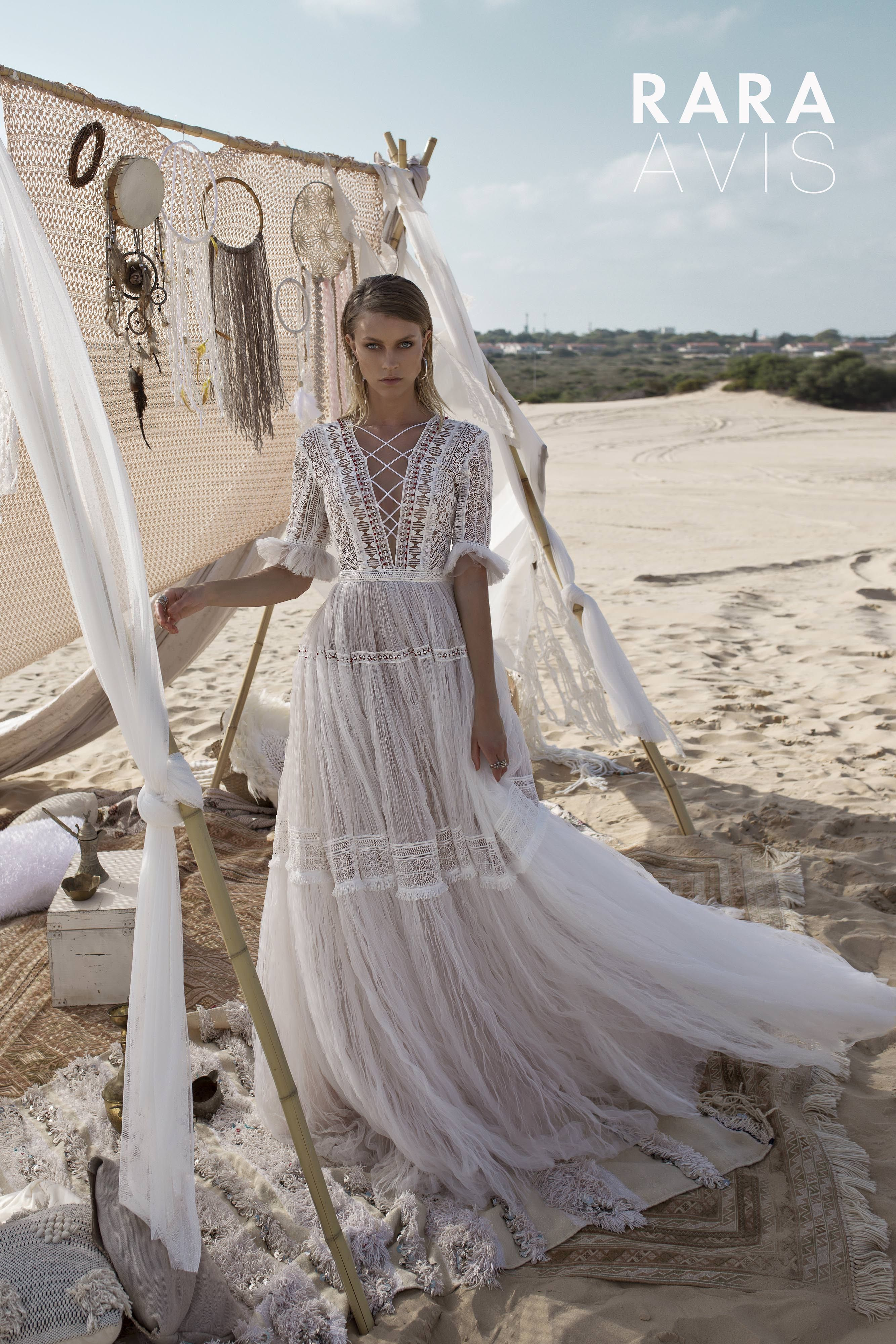 Wedding gown marit by rara avis wild soul collection long sleeves