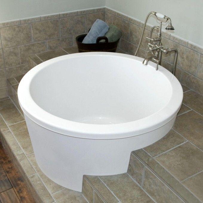 corner soaking tub with shower. 47  Caruso Acrylic Japanese Soaking Tub Soaking Tubs