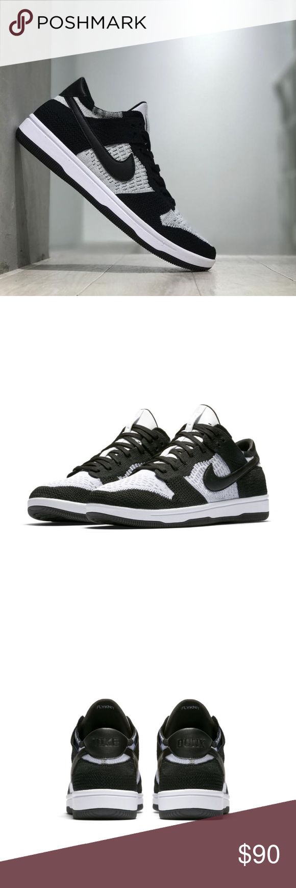 007e6f783505 Nike DUNK FLYKNIT Men s Shoe - OREO Black White The  80s icon gets a modern