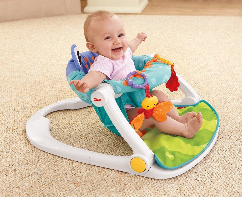 baby chairs to help sit up plastic adirondack australia amazon com fisher price me floor seat multicolor infant sitting