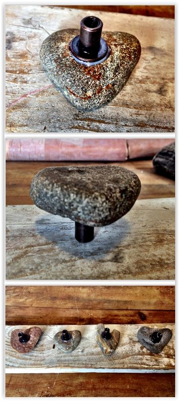 Heart Rock Drawer Pulls   Stone Cabinet Knob Tutorial ... Heart Rocks Are  One Of Those Things You Either Find Or Have Someone Find For You But  Everyone ...